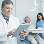 dentist checking claim status and dental benefits